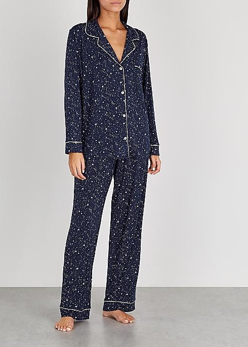 Gisele star print long PJ Set