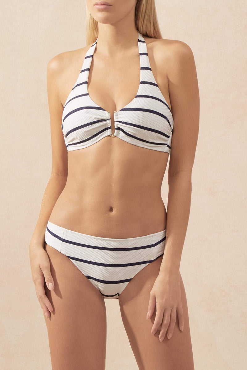 Heidi Klein, high rise bikini bottom, nautical stripes, Caroline Randell.