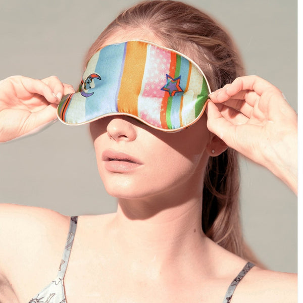 Kansas Summer Stripe Silk Eye Mask