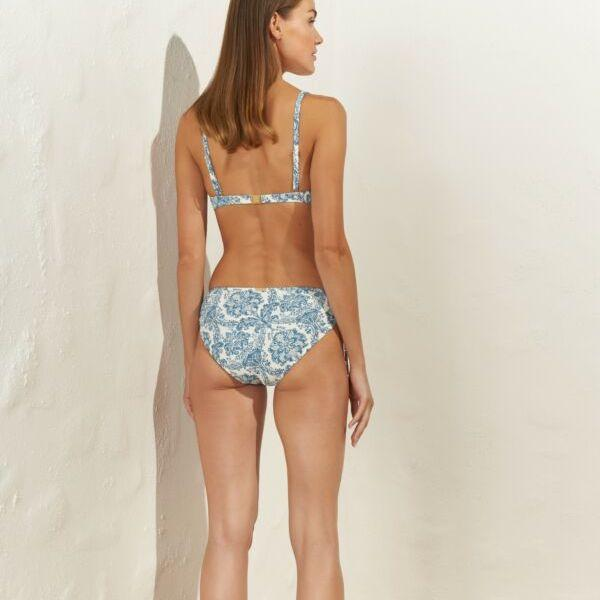 Maryan Mehlhorn, Porcelain, Underwired bikini, 5540, 903, 905, white tea tile, SS21, caroline randell, supportive bikini, blue print, fashion, swimwear,