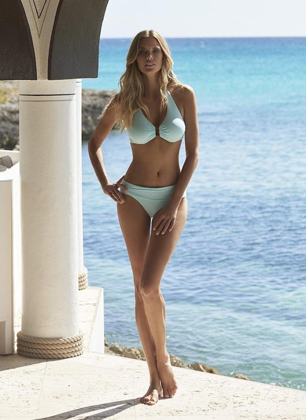 Melissa Odabash, Provence, underwired, supportive, triangle, bikini set, light blue, celeste, Caroline Randell.