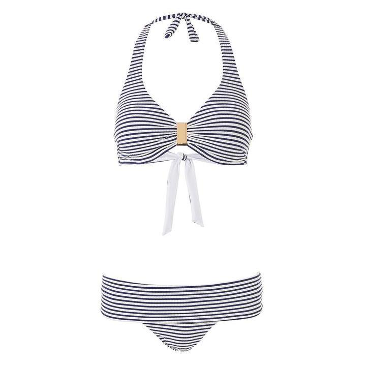 Melissa Odabash, Provence, underwired, supportive, triangle, bikini set, nautical navy stripes, Caroline Randell.
