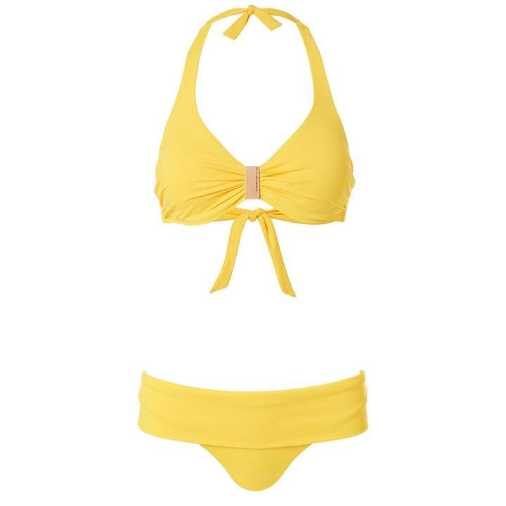 Melissa Odabash, Provence, underwired, supportive, triangle, bikini set, yellow, Caroline Randell.
