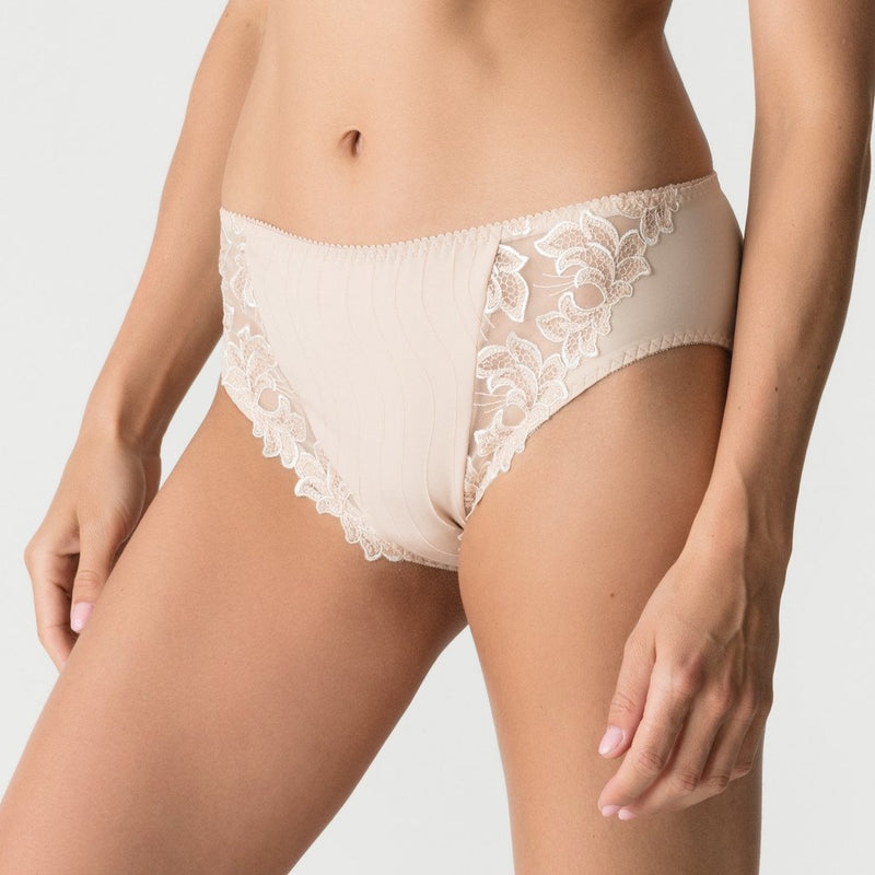 Prima Donna, Deauville, deep brief, caffe latte, skin, with lace at the sides, Caroline Randell