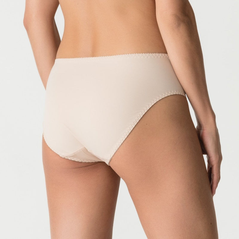 Deauville deep brief caffe latte skin with lace at the sides. Caroline Randell