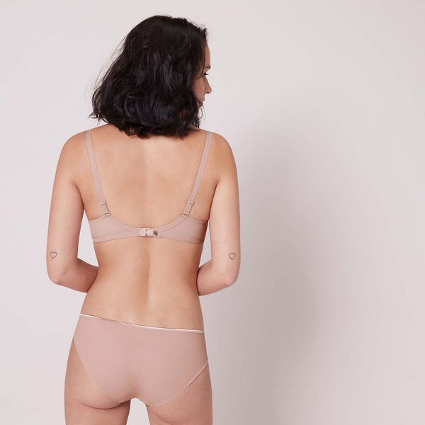 Simone Perele, cotton, seamless, bikini, brief, antique rose, blush, Caroline Randell.
