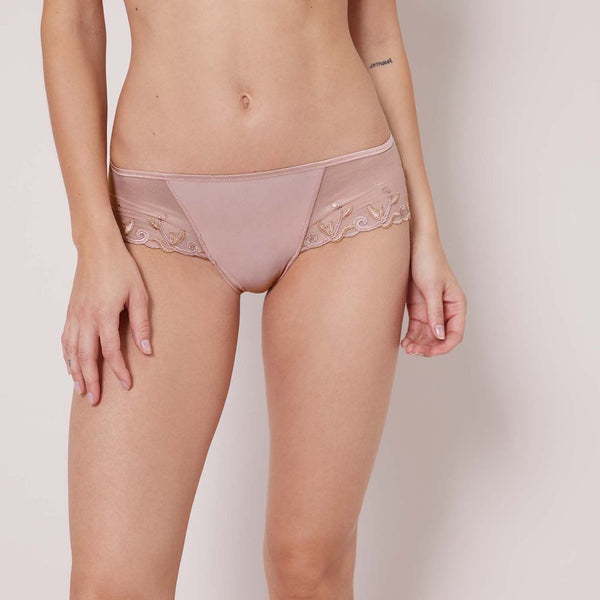 Simone Perele, new Andora, cotton, seamless, shorty, antique rose, blush, pink, Caroline Randell.