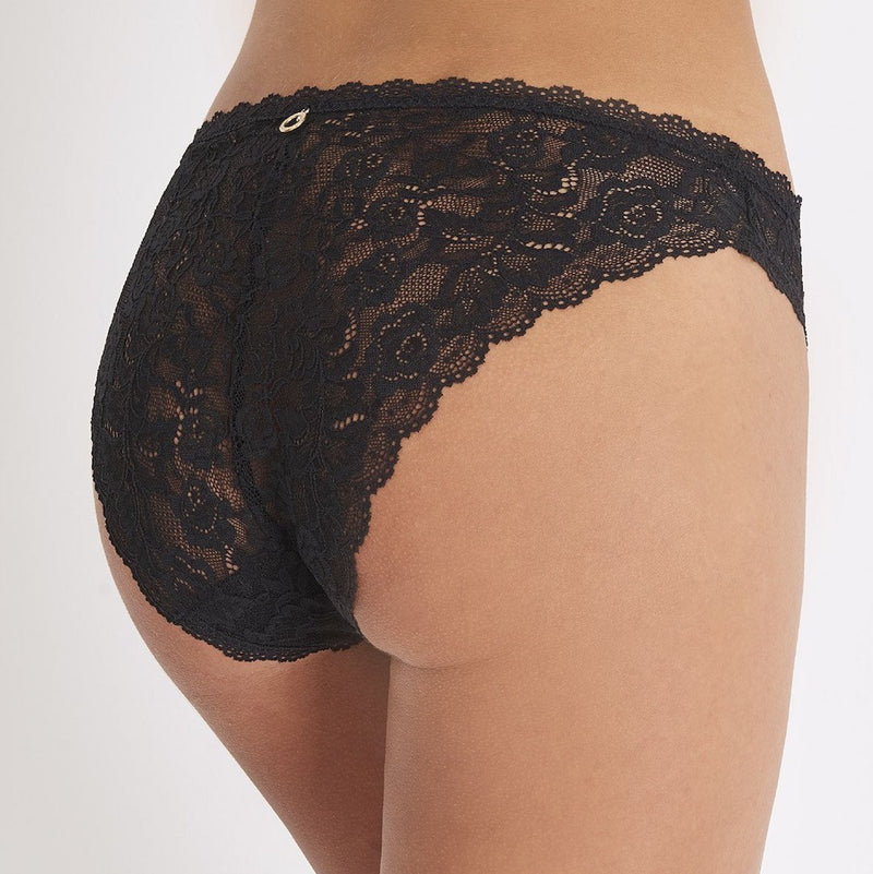 Aubade, Rosessence, seamless, lace, italian brief, no vpl, in black, Caroline Randell.