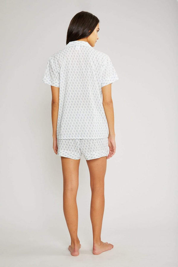 Eberjey Nautico cotton short pyjama set with print. Caroline Randell.