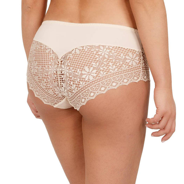 Empreinte Cassiopee Panty in opaline colour with gold thread detail and no visible panty line finish.