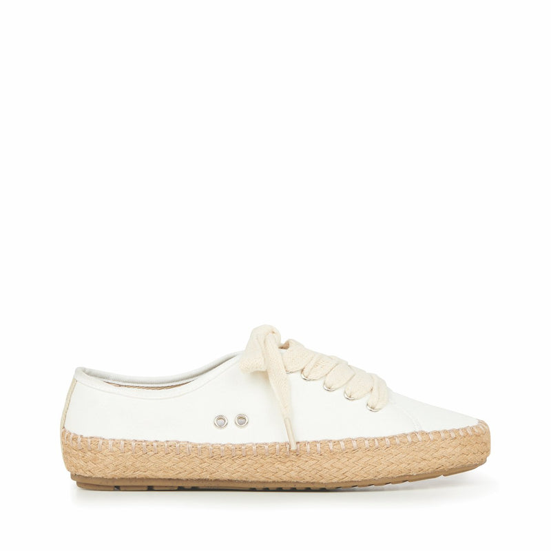 Agonis Canvas Espadrilles in White Coconut