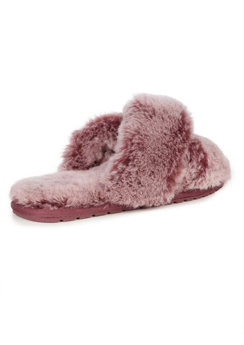 Emu Mayberry Slippers in burnt rust. slider slipper super comfortable and warm. 100% real Australian sheepskin.