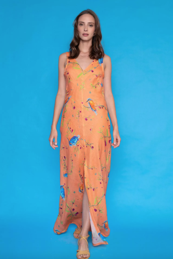 Eleftheria printed maxi dress