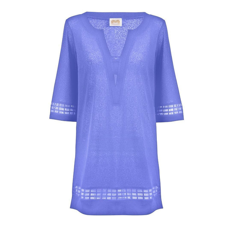 Maryan Mehlhorn, Elements, Beach dress, tunic, cover-up, kaftan. Tunic with a v neckline and free-flowing silhouette, Caroline Randell.