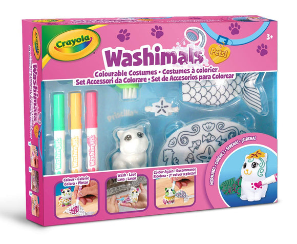 WASHIMALS SET ACCESSORI DA COLORARE SIRENETTA