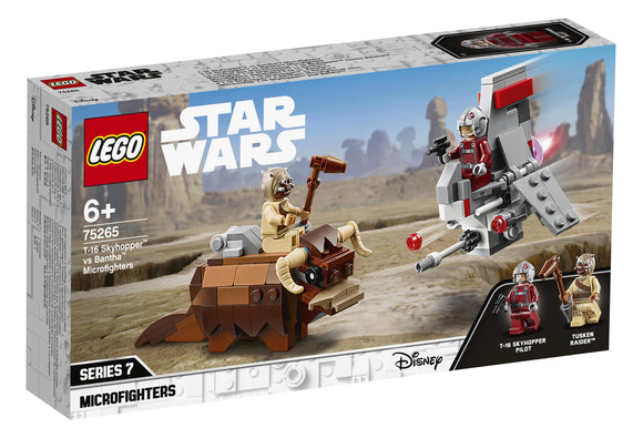 LEGO STAR WARS 75265 MICROFIGHTER T-16 SKYHOPPER VS BANTHA
