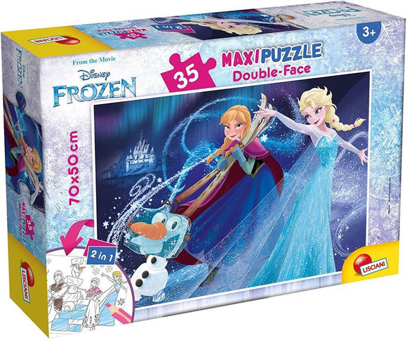 PUZZLE DOUBLE FACE SUPERMAXI 35 PZ FROZEN