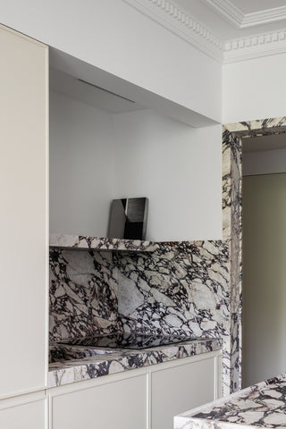 Just Adele | Marble & Stone | Viola Calacatta | Interiors | Marble Coffee Tables & Side Tables | Recycled stone only | Just Adele Bespoke |  Arrivani architecture