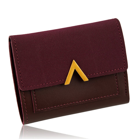 European Mulberry Suede Wallet