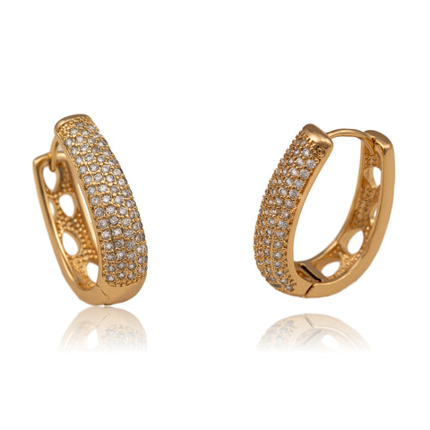 Annie Champagne Gold Hoops