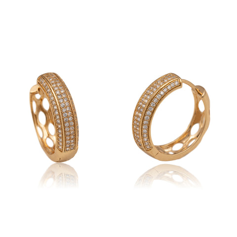 Evie Champagne Gold Hoops