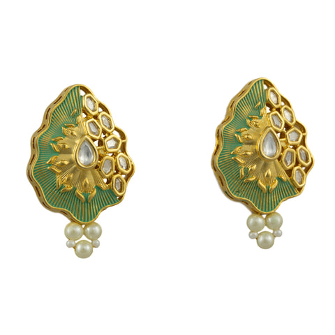 Eva Gold Plated Earrings