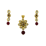 Pachi Kundan Locket Set