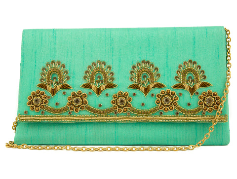 Royal Turquoise Braided Handbag