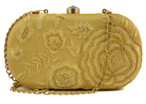 Golden Braided Handbag