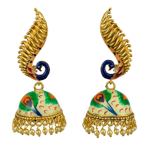 Colorful Peacock Earrings