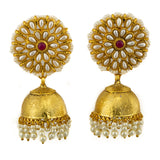 White Pearl Golden Earrings