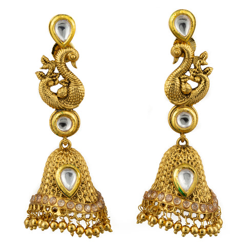 Kundan Mesh Bell Earrings