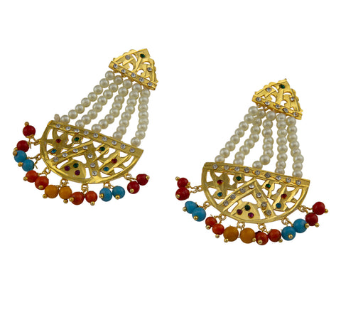 Jadau Multi Color Earings