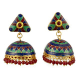 Multi colored enamel Jhumki