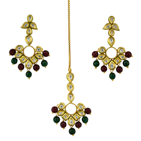 Gold Finish Kundan  Set