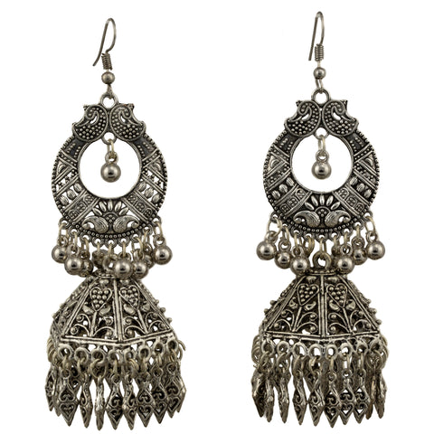 Oxidized German Earrings