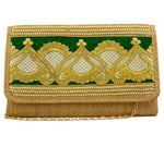 Green Patched Braided Handbag