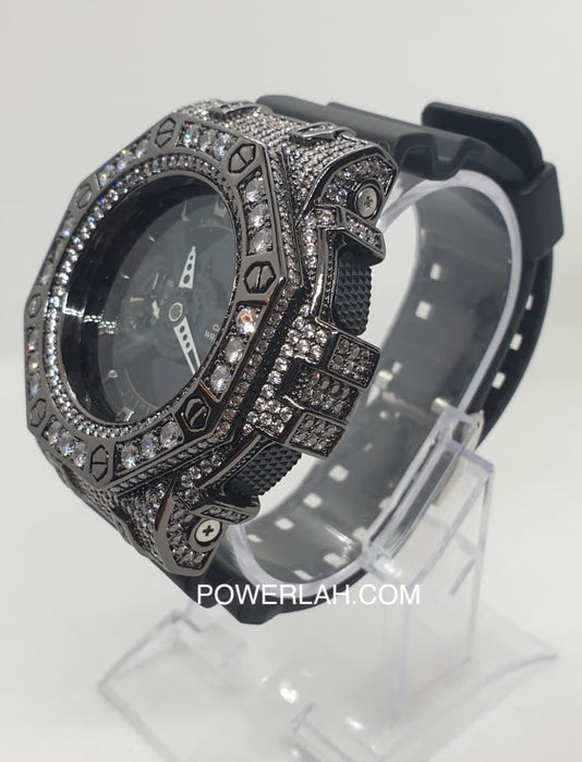 G-Shock GA110 (Black with white Crystal)