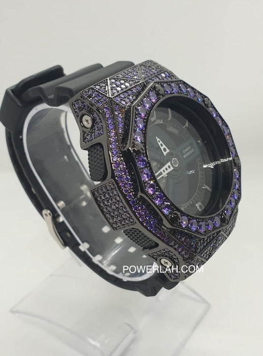 G-Shock GA110 (Black with Purple Crystal)