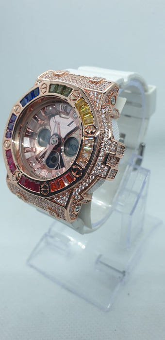Baby G BA-130-7A1DR (PRINCESS CUT) NEW