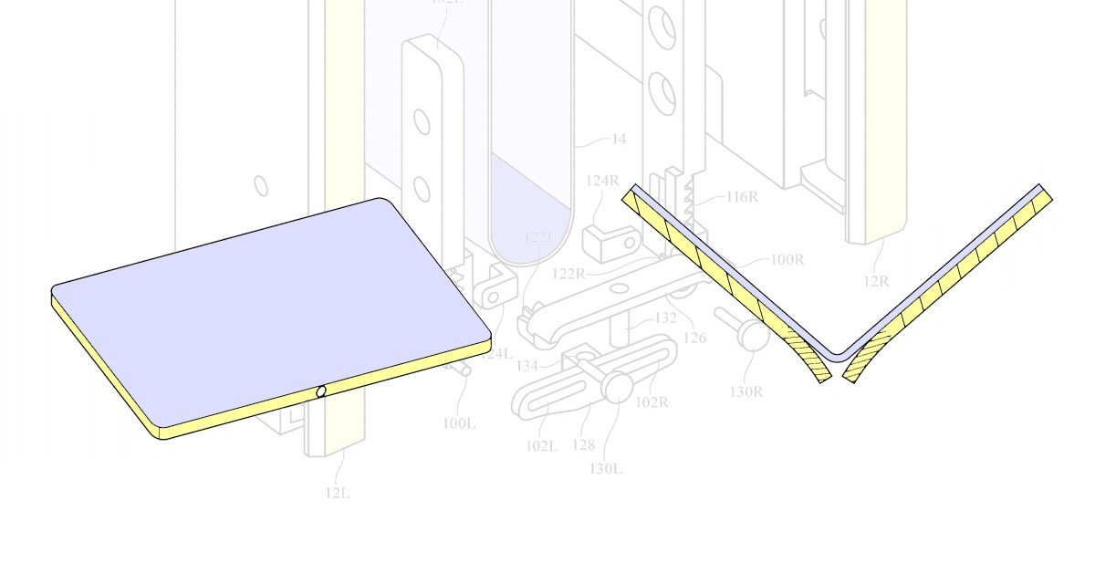 Apple's new folding screen patented special hinge mechanism prevents damage to the curved portion of the screen