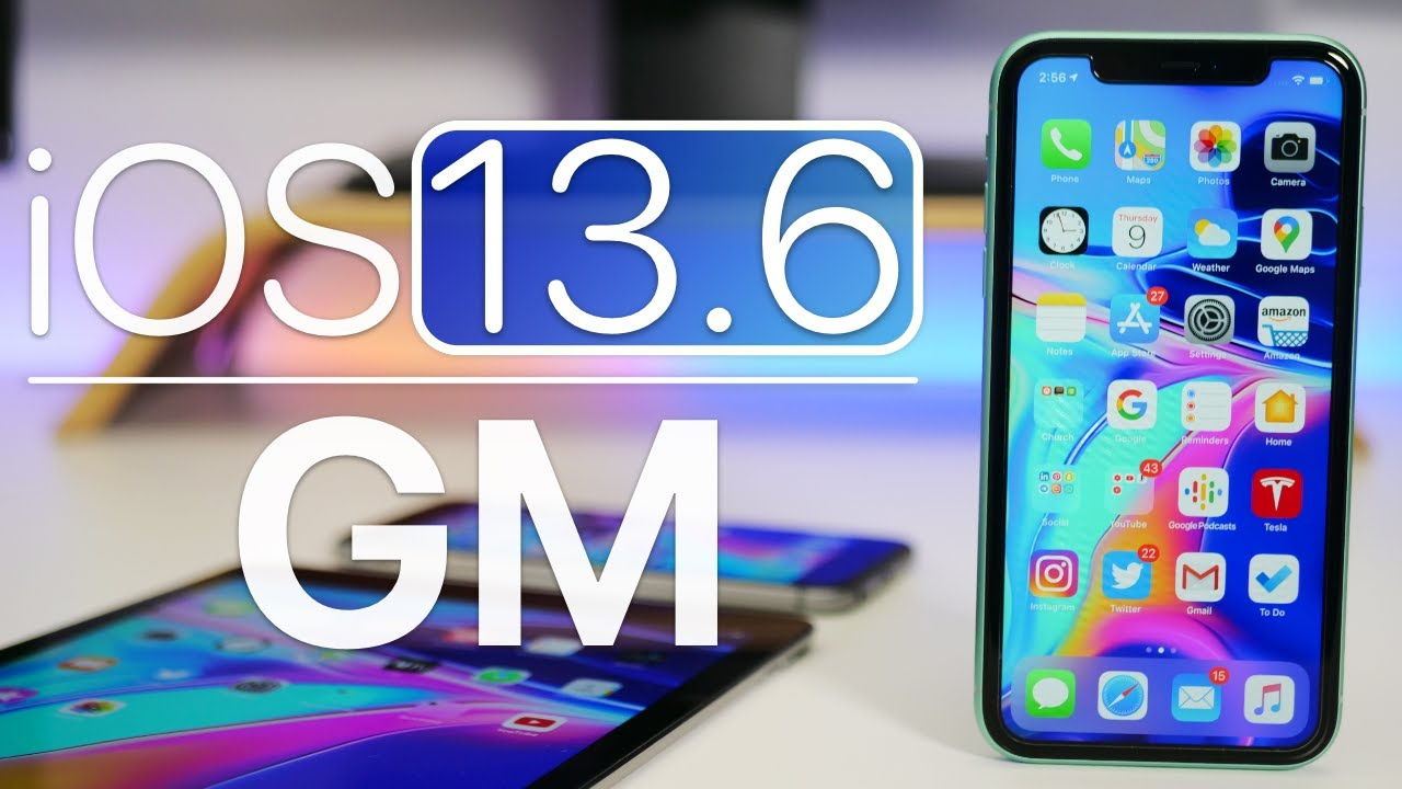 The official version of iOS 13.6 GM is coming soon