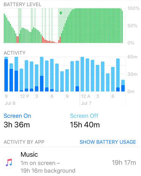 apple music battery drain