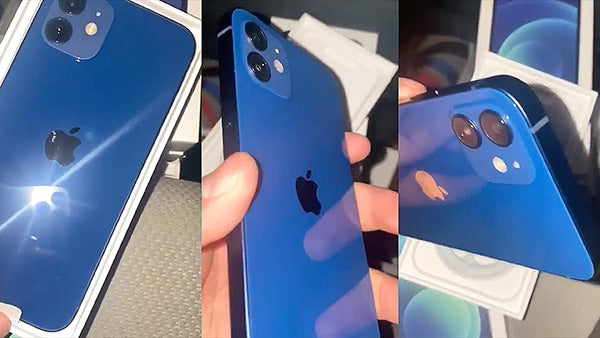 blue color of the iPhone 12