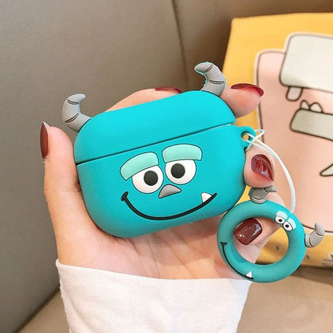 AirPods Pro Case Monster Inc James P Cartoon AirPods Cover With Keychain-CoolDesignOnline