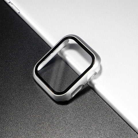 Apple Watch Case Series 5 44mm Bright Silver With Screen Protector-CoolDesignOnline