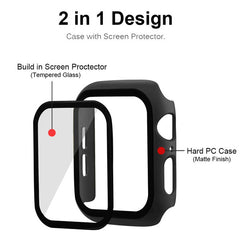 Apple Watch Case Series 3 38mm Transparent Carbon With Screen Protector-CoolDesignOnline