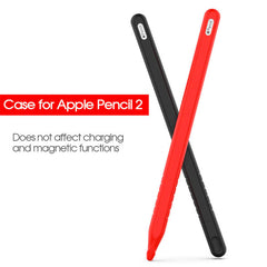 Apple Pencil 2 Case Pink Silicone Protective Apple Pencil Cover (2 Cap)-CoolDesignOnline