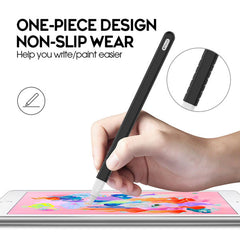Apple Pencil 2 Case Black Silicone Protective Apple Pencil Cover (2 Cap)-CoolDesignOnline