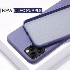 iPhone 11 Pro Max Case Solid Candy Color Liquid Lilac Purple Cover-CoolDesignOnline